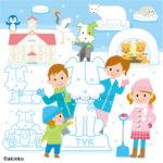 北海道雪祭りのイラスト
