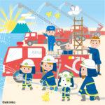 消防士のイラスト