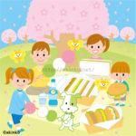 4月 ピクニックのイラスト