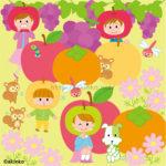 9月 果物のイラスト