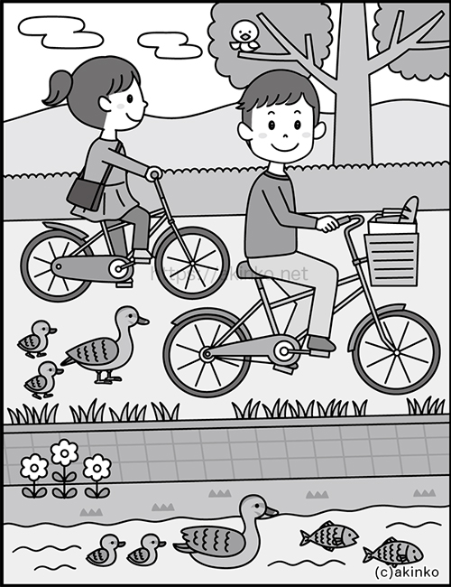 新健康脳活ドリル令和三年度上半期版q101「サイクリング」